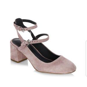 🎉H. P🎉Rebecca Minkoff Brooke Velvet Chunky Heel